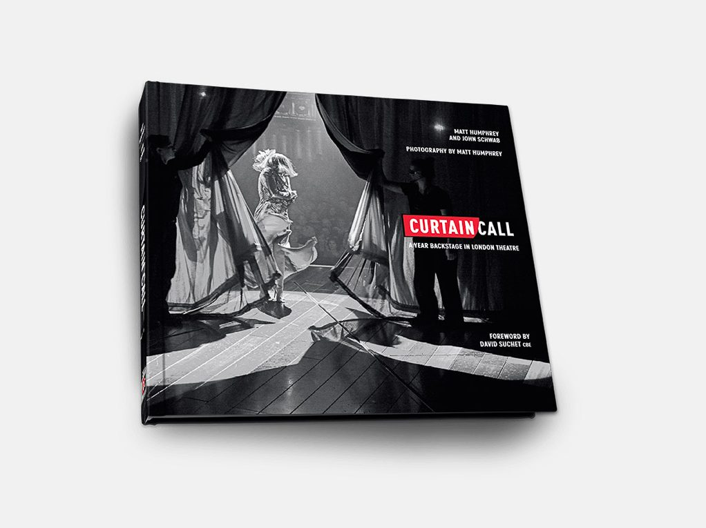 A packshot of Curtain Call, one of my completed book production projects