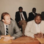 Speaking with Tanzania's Minister of Education in Arusha 1991