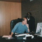 With Eddison Zvobgo whilst in Germany chairing the Parliamentary Justice Committee 2001