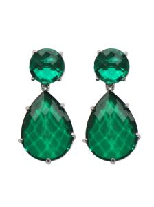 Anzie Classique Collection Earrings - Green Quartz