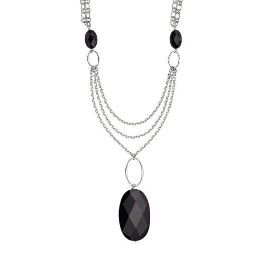 Elle Red Carpet Black Agate Necklace
