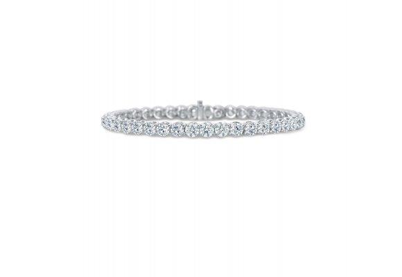 White Gold Lattice Diamond Bracelet