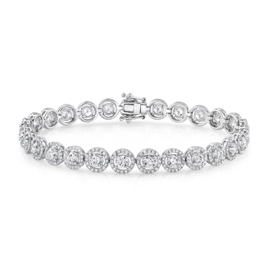 Round Halo Diamond Bracelet - Natalie K for Forvermark