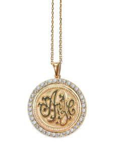 Monogram-initials-pendant-gold-diamonds_anzie