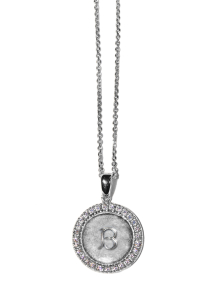 Silver Initial Pendant Necklace - Letter B