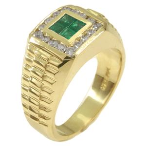 60b50e_mens-diamond-emerald-yellow-gold-ring
