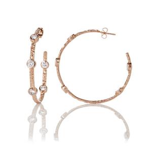 Freida Rothman Starry Night Hoop Earrings