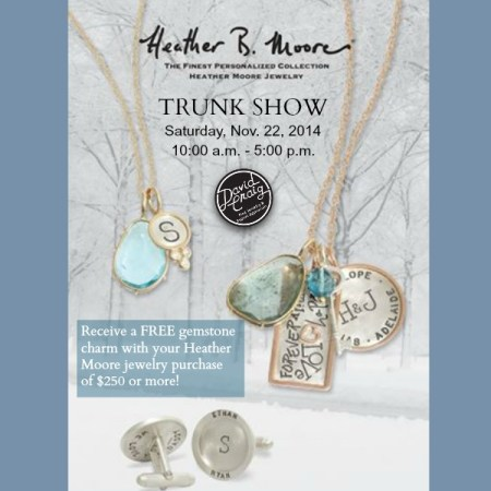 Heather Moore Jewelry Trunk Show at David Craig Jewelers