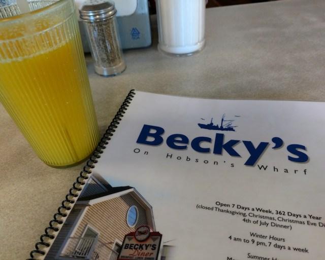 Dinner at Becky's Diner