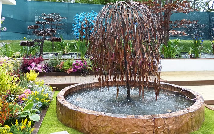 the 10 top garden trends from rhs chelsea flower show on Tree Water Feature id=17185