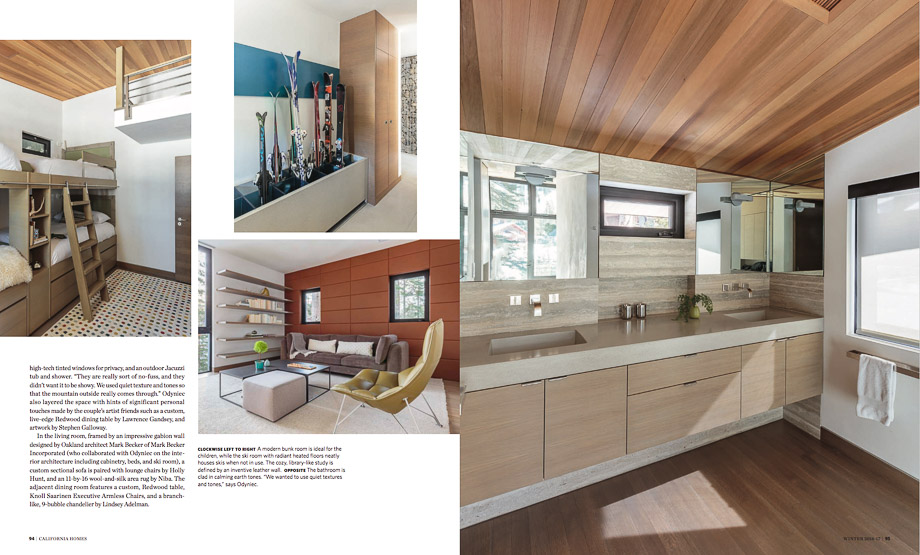 Published Now in Interior Magazines California Homes Winter 2017