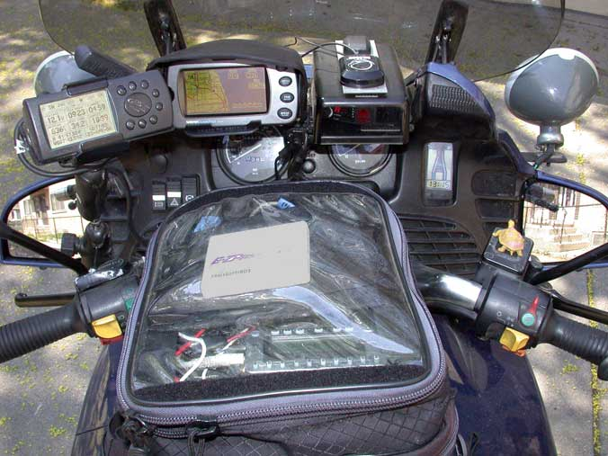Picture of bike cockpit