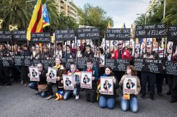 Manifestació carrer Marina Llibertat Presos Polítics
