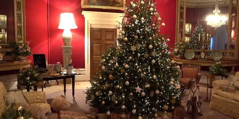Christmas Eve at Basildon Park, Berkshire