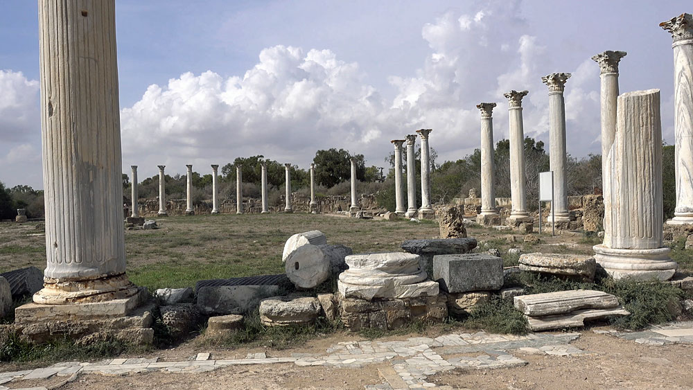 Ancient Ruins of Salamis near Famagusta, Cyprus