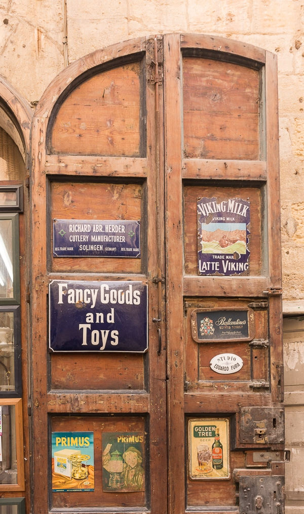 Shop Signs in Valletta.
