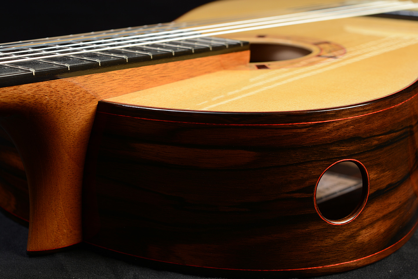 Classical Guitar by David Finck -- elevated neck and soundport