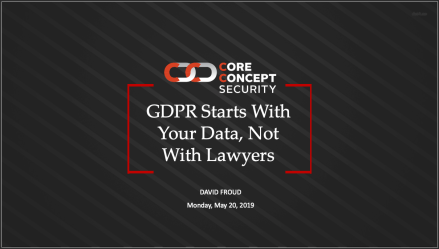 GDPR - One Year Later