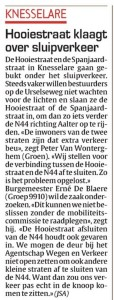 Groen wil Hooiestraat afsluiten