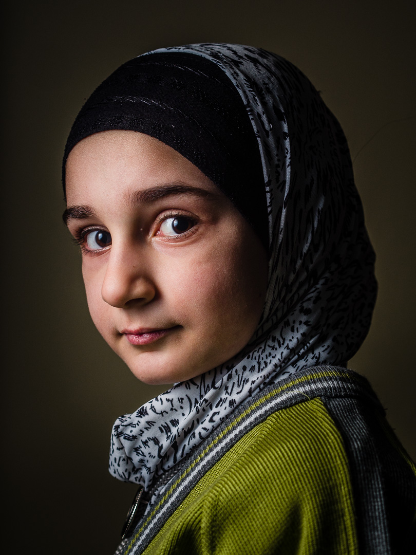 Syrian refugee girl (name withheld) at a the Friendship Syrian school.