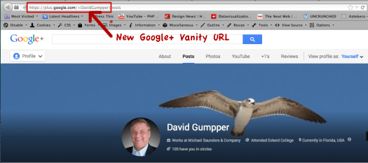 Google+ Vanity URL for David Gumpper