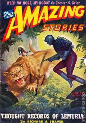 """Amazing Stories,"" June 1945."