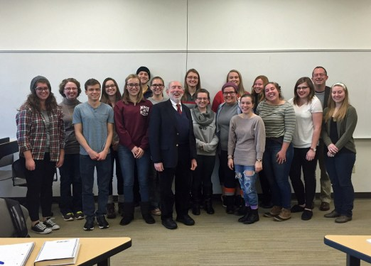 With Michael Joy's seminar class, November 19, 2015. Michael is second from the right.