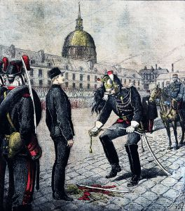 January 5, 1895: the degradation of Captain Alfred Dreyfus. From Wikipedia.