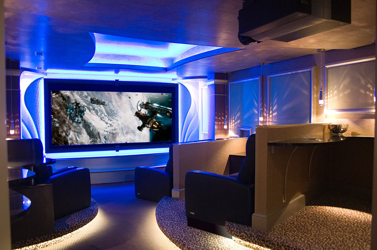 Residential Home Theater Interior Design David Hawkins