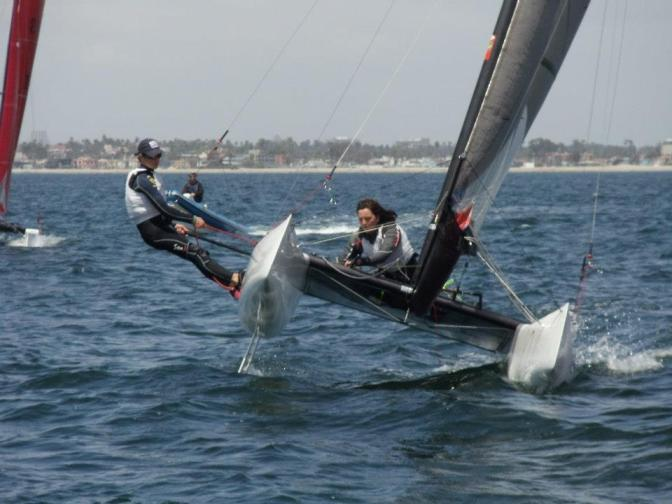 Katieand  David Olympic Sailing Nacra17