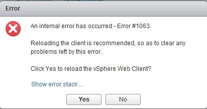 Error 1063 vSphere Web Client - David Hill