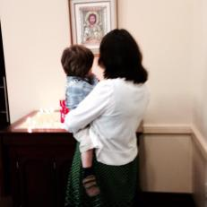 A tender moment of Godmother and Godson reminds me why I love the people at my parish.