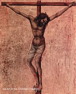 Thief on the Cross Duccio, di Buoninsegna, d. 1319