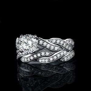 JewelryPalace Infinity 1.5ct Simulated Diamond Anniversary Promise Wedding Band Engagement Ring Bridal Sets 925 Sterling Silver Image 4