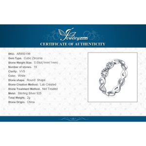 JewelryPalace Infinity Forever Love Anniversary Promise Ring Pure 925 Sterling Silver Jewelry For Women Gift Image 6