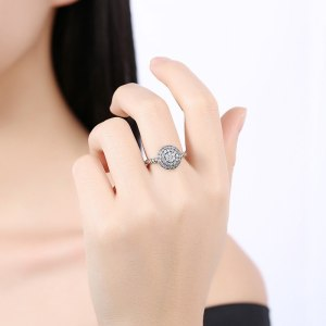 New retro Ousnow brand quality luxury fashion jewelry 100% 925 sterling silver round opening adjustable ladies ring PDRSVR193 Image 6