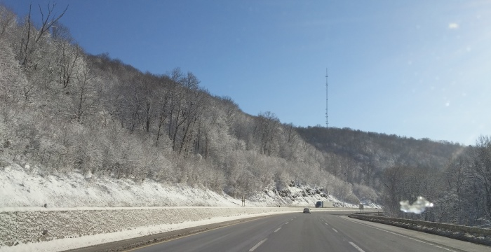 Drive along the Pennsylvania Turnpike