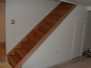 Stairs refaced with Red Oak
