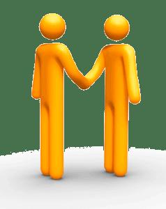 David Leonard - IT Support London - Freddle shaking hands