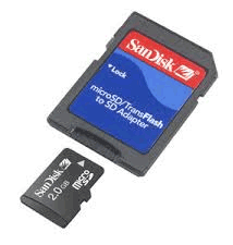 2gb Micro SD card and adaptor