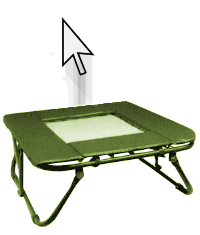 A cursor bouncing on a trampoline