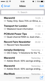 IOS Mail Inbox