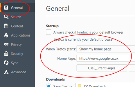 Firefox Options 2