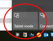 Tablet Mode Tile