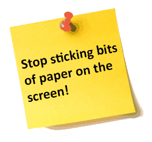 Sticky Notes Message