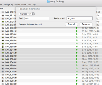 File Renaming on a Mac - Figure 1