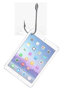 Hooked iPad