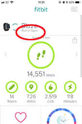 Fitbit pull to sync