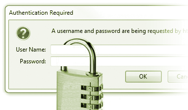 Username and password entry