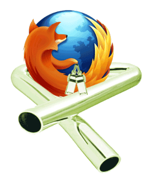 Firefox logo with tubular bells and whistles
